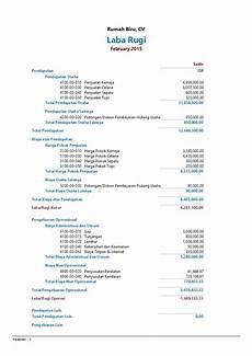 contoh laporan keuangan perusahaan sederhana