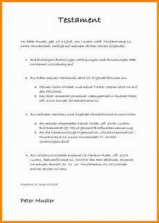 Testament Selbst Schreiben - testament vorlagen zum ausdrucken beispiel 25 beste