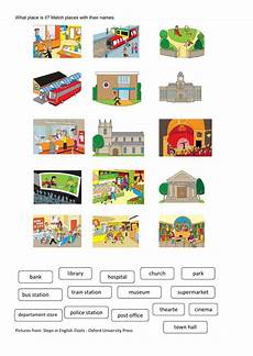 places worksheets 15930 places in the city interactive and downloadable worksheet you can do the exercises or