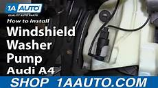 book repair manual 1998 audi a4 windshield wipe control how to install replace windshield washer pump 1998 2010 audi a4 youtube