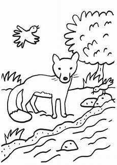 Schule Und Familie Ausmalbild Herbst Kostenlose Malvorlage F 252 Chse Fuchs Am Bach Zum Ausmalen