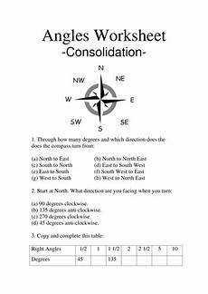teaching directions year 1 11789 angles and compasses worksheet teaching resources
