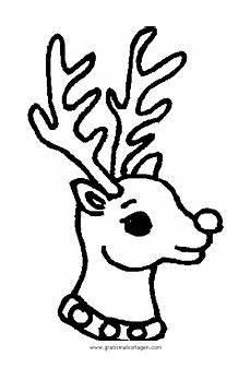 rentier 37 gratis malvorlage in rentier weihnachten