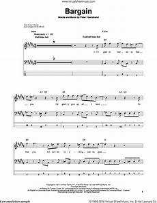 bargain sheet who bargain sheet music for bass tablature bass guitar