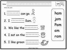 am word family worksheets am word family printable worksheets by the primary place tpt