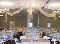 white and silver wedding reception in our church fellowship hall totally a diy wedding and it