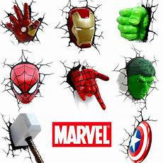 marvel avenagers 3d wall light hulk iron man capatin