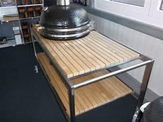Premium Tisch Monolith Lechef Mit Edelstahlgestell Und