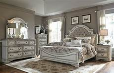 magnolia manor white upholstered panel bedroom