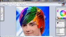 change hair colour paint net youtube