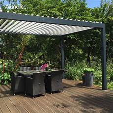 Motorized Aluminium Pergola Retractable Awning For Garden