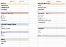 tableau budget familial gratuit à imprimer organisation semaine 3 les finances cl 233 mentine la mandarine