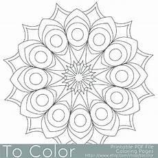 easy adult coloring pages printable circular mandala easy coloring pages for adults big