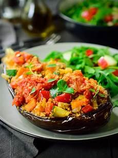 vegan stuffed eggplant proven 231 al cilantro and citronella