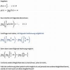 grenzwert limes folgende umformung m 246 glich mathe