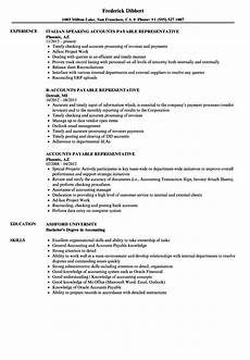 accounts payable representative resume sles velvet