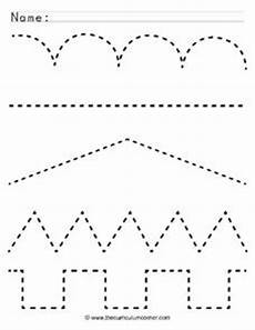 line patterns worksheets 152 tracing lines pre k kindergarten worksheet lesson planet