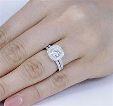925 sterling silver cz halo wedding band engagement rings set hs size 3 12 ss052 ebay