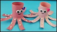basteln mit klopapierrollen diy s 252 223 e klorollen kraken basteln mit kindern