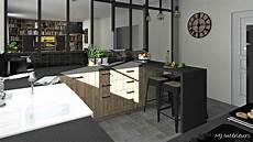 cuisine style industriel et rustique avec verri 232 re atelier