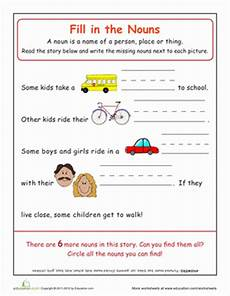 noun practice school worksheet education com