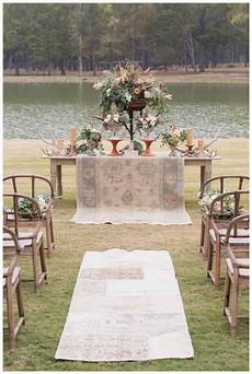 rustic wedding ceremony inspiration designed by invision