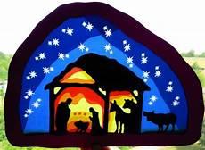Fensterbilder Vorlagen Weihnachten Krippe Waldorf Gro 223 Es Fensterbild Krippe M 228 Uslein Auf Dawanda