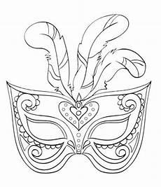 karnevalsmaske malseite feder kinder print carnival