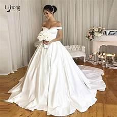 Simple Wedding Dresses 2019 vintage wedding dresses 2019 with pockets the shoulder