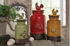 canisters kitchen decor new 3pc kitchen storage rooster canisters rustic vintage