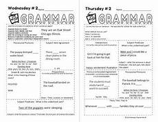 punctuation worksheets l2 20825 5 minute grammar daily grammar worksheets 6th grade practice and assessment