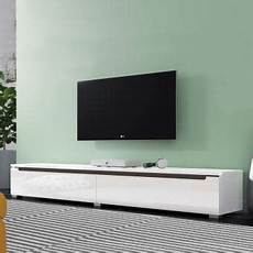 meuble tv a suspendre meuble tv banc tv 180 cm blanc brillant