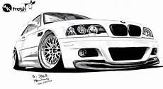 Bmw E46 Drawing Car Drawings Bmw Sketch Bmw
