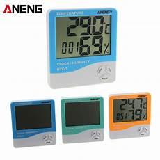 Temperature Humidity Touch Electronic Weather Clock by Htc 1 Indoor Lcd Electronic Temperature Humidity Meter