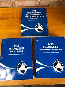 free service manuals online 1996 ford econoline e350 user handbook 1996 ford econoline van shop manual set e150 e250 e350 club wagon repair service ebay