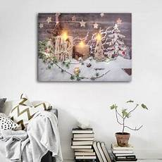 led light up candle canvas picturess sweet home picture decor wall hanging christmas decoration