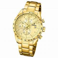 herren gold uhr festina herren armbanduhr chronograph sport f20266 1