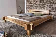 Schlafzimmer Bett 200x200 by Balkenbett 200x200 Wildeiche Massiv Rustikal Ge 246 Lt