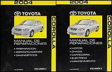 car repair manuals online free 2004 toyota corolla electronic valve timing in spanish 2004 toyota corolla repair shop manual original 2 vol set