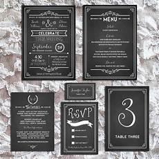 chalkboard diy wedding invitation