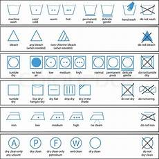 Icon Set Of Washing Signs And Textile Stock Vector