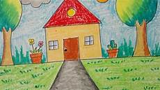 How To Draw An Easy Scenery For Little Kids Topic My