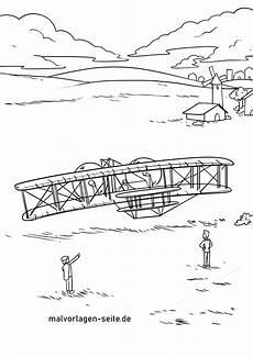 malvorlage erster flug br 252 der wright am 17 dezember 1903