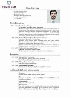 latest resume format 2016 resume format trends