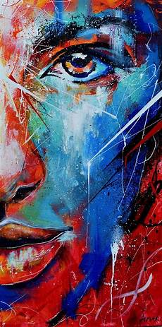 fire and ice abstract portrait painting on behance painting pinterest abstract portrait