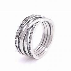 rings sterling majesty entwining silver pandora style fits