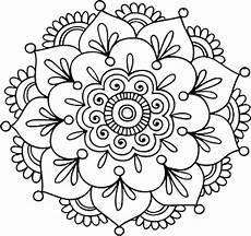 Mandala Blumen - quot simple mandala flower quot by mermaidnatalie redbubble