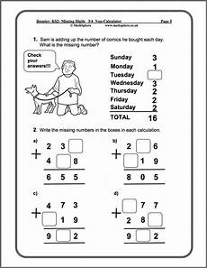 multiplication worksheets ks2 4451 level 3 4 missing digits maths worksheet printable math worksheets math worksheet maths
