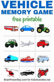 vehicles free worksheets 15173 free printable vehicle memory kidz activities for the boys i