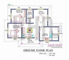 house plans in kerala with 2 bedrooms nano home plan and elevation in 991 square feet kerala